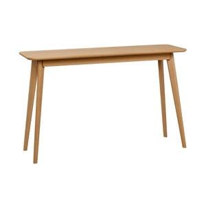 Prírodný konzolový stolík z dubového dreva Folke Yumi