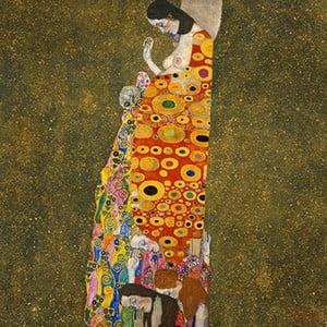 Obraz Gustav Klimt - Hope II, 40x40 cm