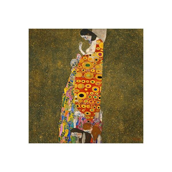 Reprodukcia obrazu Gustav Klimt - Hope II, 40x40cm