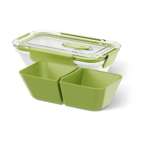 Krabička na potraviny Rectangular White/Green, 0,5 l
