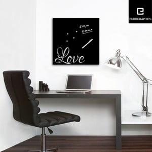 Magnetická tabuľa Eurographics Silver Love, 50 x 50 cm