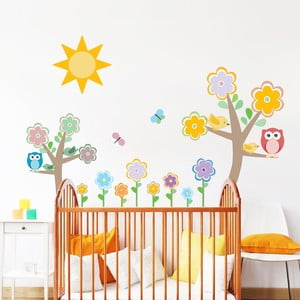 Sada detských samolepiek na stenu Ambiance Flowers Tree