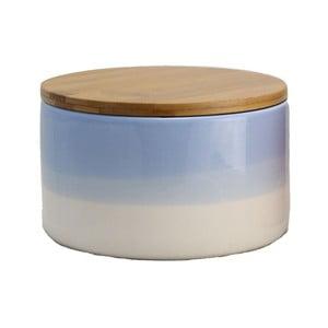 Keramická dóza Majken Medium Blue/White