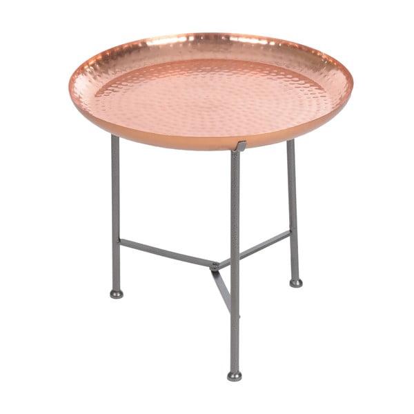 Odkladací stolík s podnosom Copper Finish