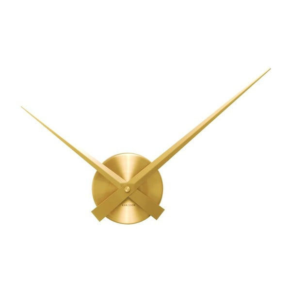 Zlaté nástenné hodiny Present Time Mini