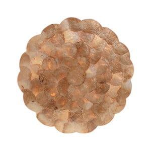 Sada 2 prestieraní v zlatej farbe z mušlí InArt Capiz, ⌀ 38 cm