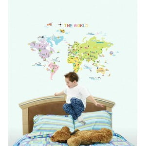 Sada samolepiek Ambiance World Map for Children