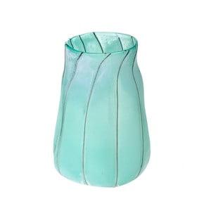 Modrá sklenená váza Dino Bianchi Campania, výška 32 cm
