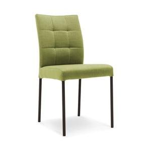 Zelená jedálenská stolička s čiernymi nohami Jakobsen home Inari