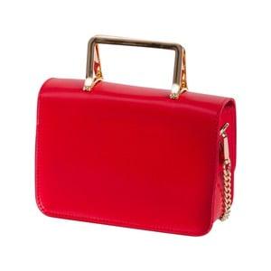 Červená kabelka z pravej kože Andrea Cardone Emma