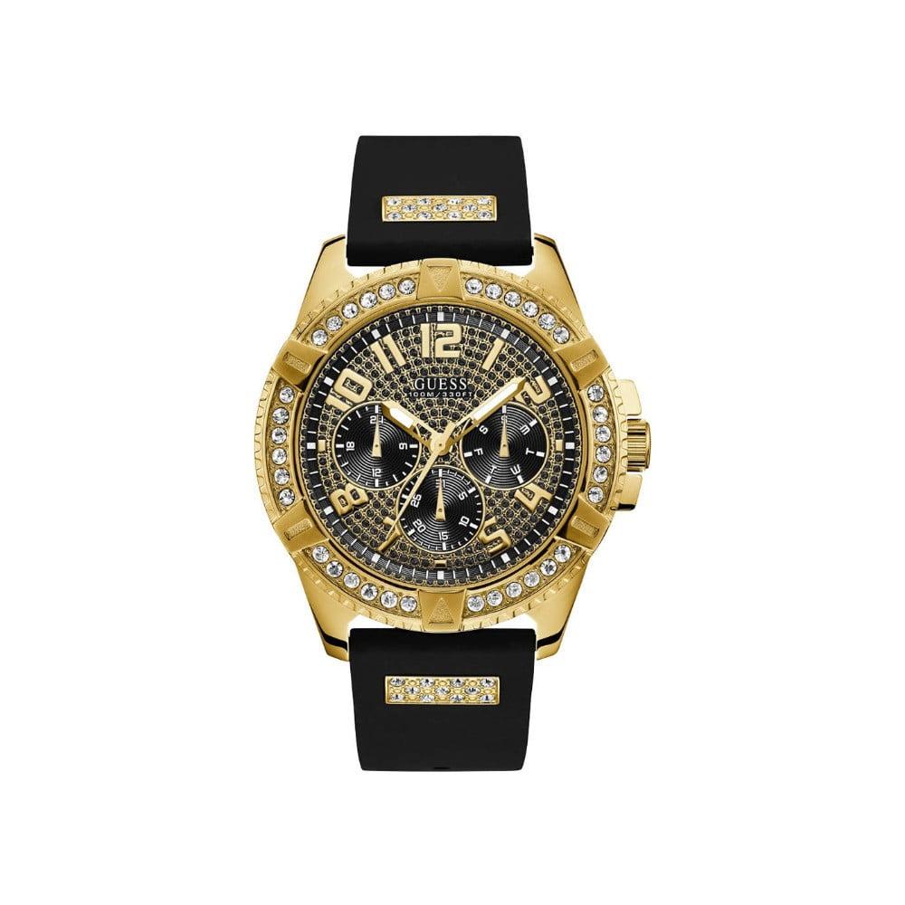 caaf69728 Pánske hodinky s čiernym silikónovým remienkom Guess W1132G1   Bonami