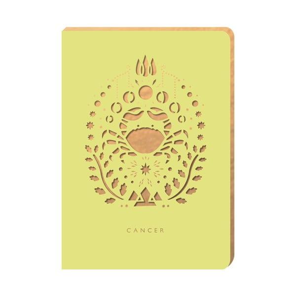 Linajkový zápisník Portico Designs Rak, 124 stránok