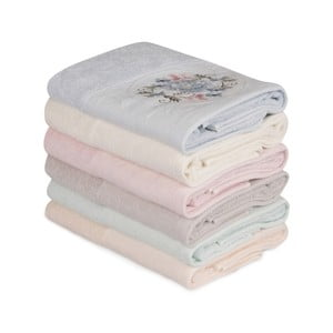 Sada 6 bavlnených uterákov Daireli Micrena, 50×90 cm
