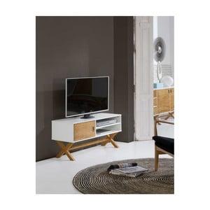 Biely TV stolík zborovicového dreva SOB Leydo