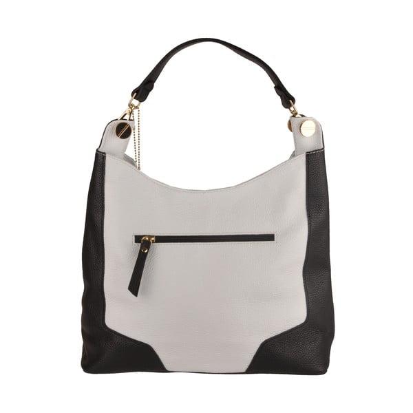 Kožená kabelka Emilio Masi Yala, čierna/biela