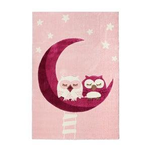 Detský koberec Happy Rugs Pink Owls, 120x180cm