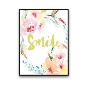 Plagát s kvetmi Smile, 30 x 40 cm