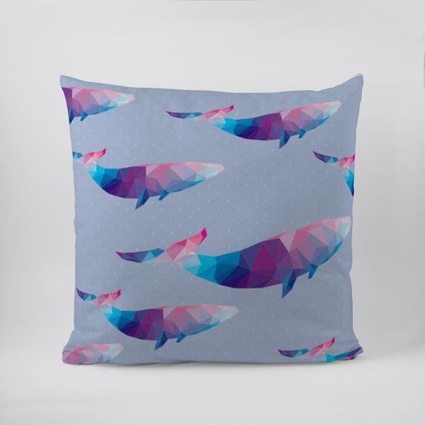 Vankúš Origami Whales