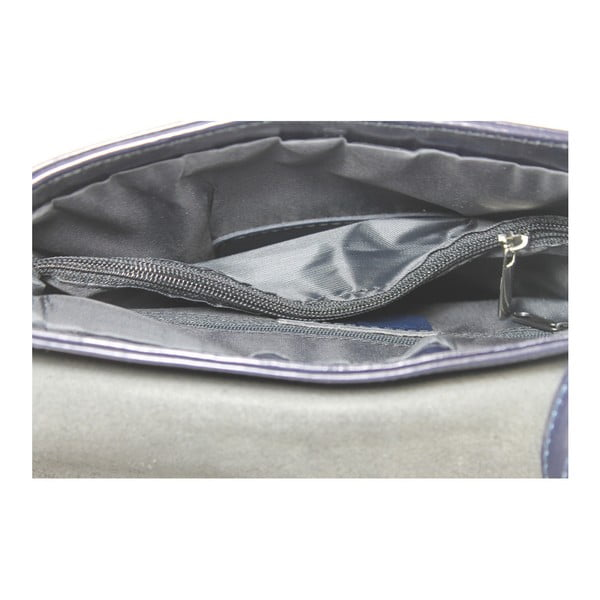 Modrá kožená taška Chicca Borse Valeria
