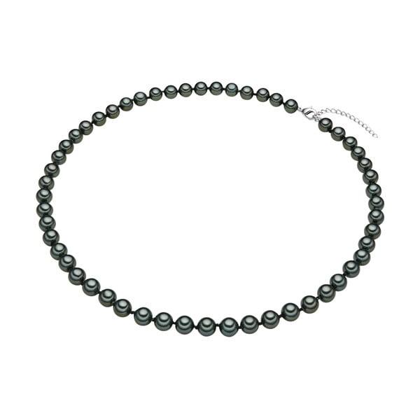 Perlový náhrdelník Muschel, zelené perly 8 mm, dĺžka 50 cm
