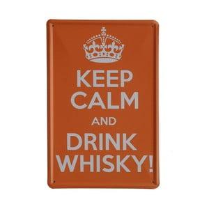 Ceduľa Drink Whisky, 20x30 cm