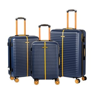 Sada 3 modrých cestovných kufrov na kolieskach Travel World Amazonia