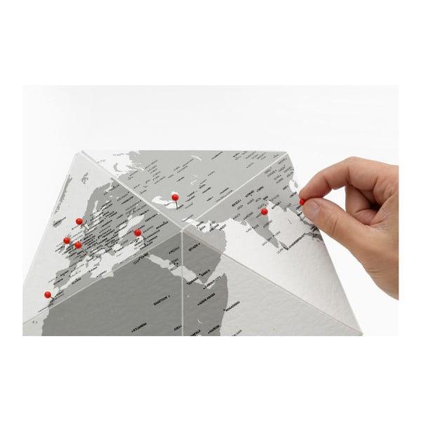 Sivý skladací glóbus Palomar Here, 41cm