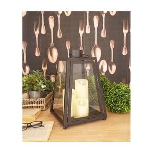 Čierna lampáš Orchidea Milano Black Dream, výška 40 cm