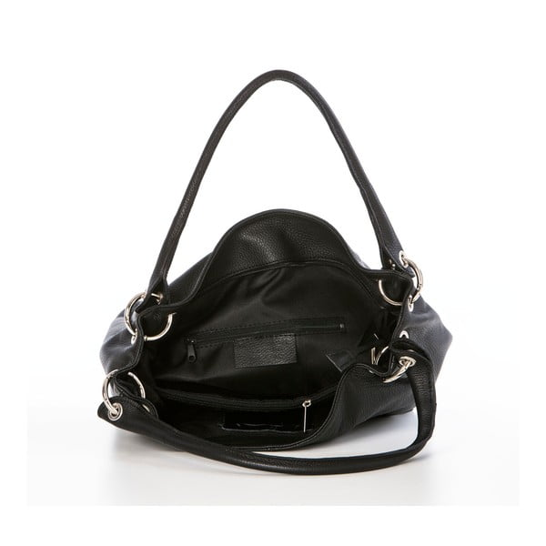 Kožená kabelka Dellio Black