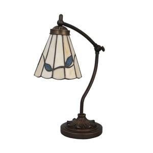 Tiffany stolná lampa Blue Leaves