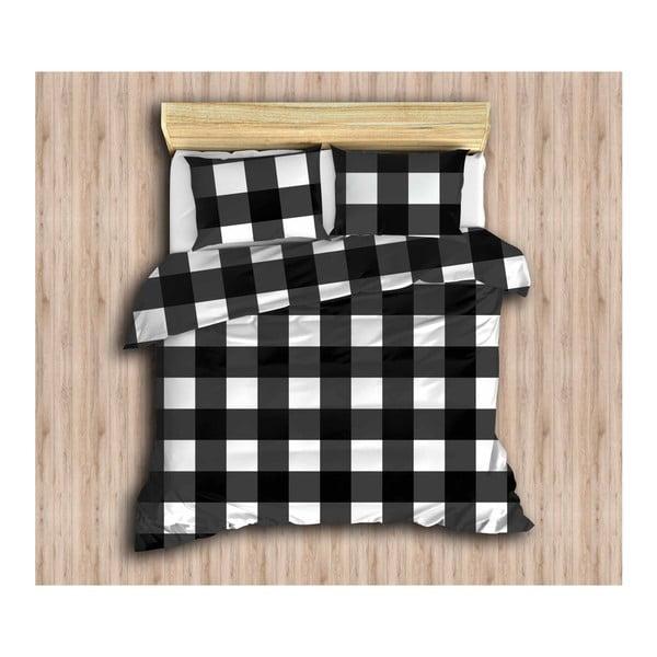 Obliečky s plachtou a 2 obliečkami na vankúš Plaid, 200×220cm