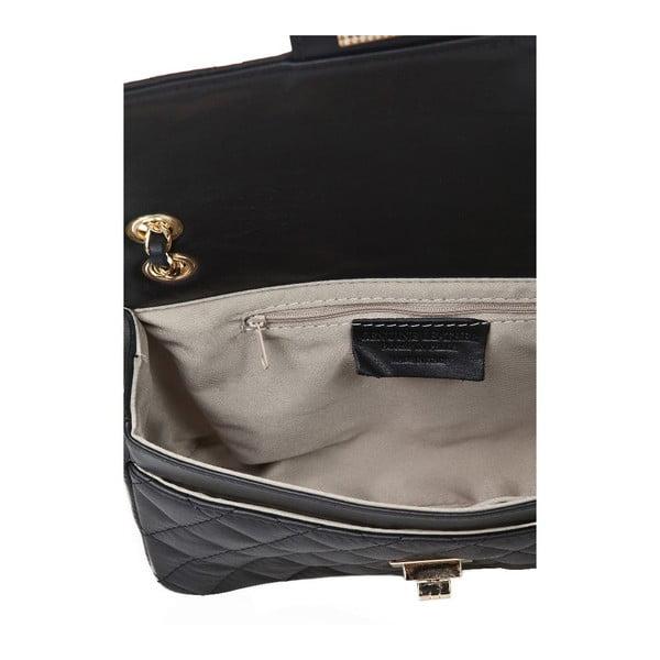 Čierna kožená kabelka Markese Verdiana
