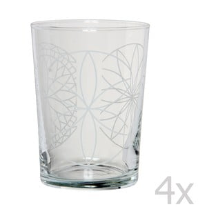 Sada 4 pohárov Rosace, 500 ml