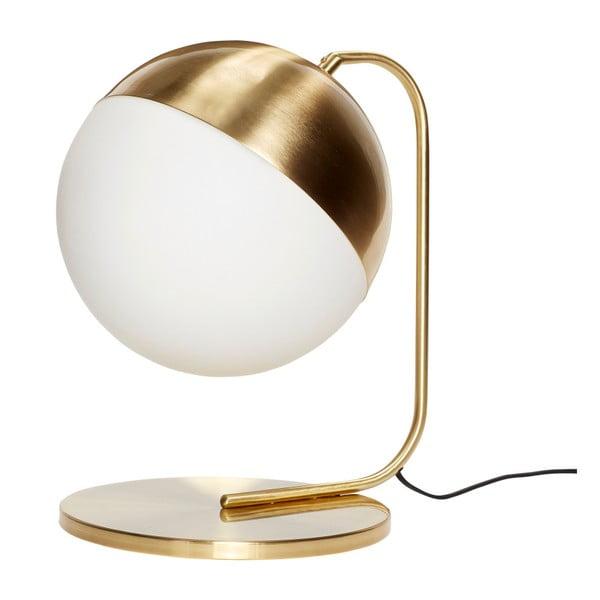 Stolová lampa v mosadznej farbe Hübsch Mira
