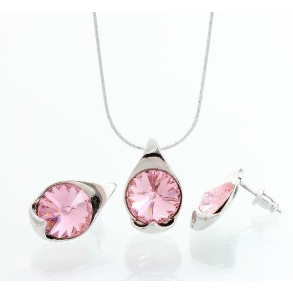 Set náhrdelníku a náušníc Laura Bruni Rosa