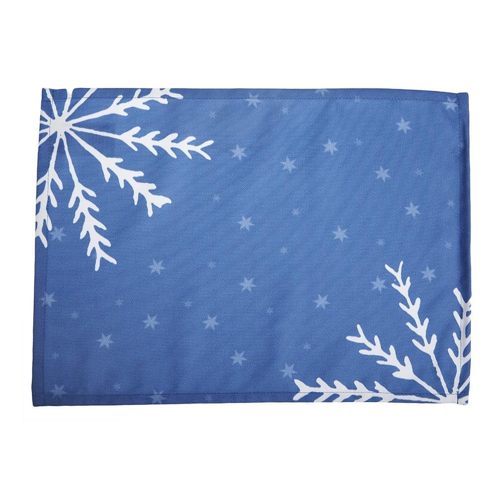 Sada 2 modrých prestieraní s vianočným motívom Apolena Honey Christmas, 33 × 45 cm