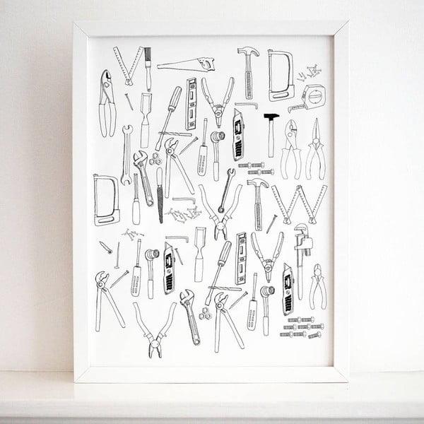 Plagát Tools Collection, 30x40 cm