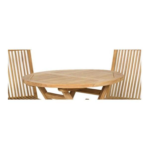 Záhradný stôl a 4 stoličky Valencia Natural