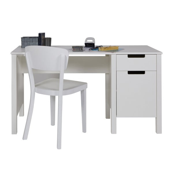 Biely pracovný stôl DeEekhoorn Jade