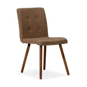 Hnedá drevená jedálenská stolička SOB Arana