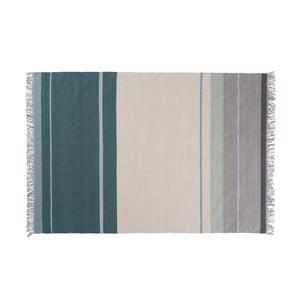 Vlnený koberec Metallum Aqua, 140x200 cm