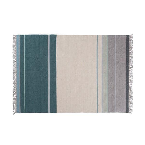 Vlnený koberec Metallum Aqua, 80x150cm