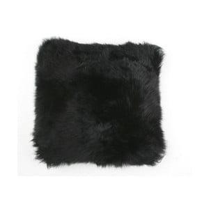 Kožušinový vankúš Black, 35x35 cm