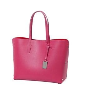 Tmavoružová kabelka z pravej kože Andrea Cardone Eulalia