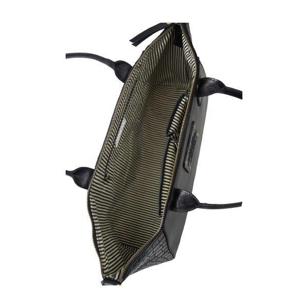 Kožená kabelka Fly Violet midi, krokodília