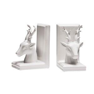 Sada 2 zarážok na knihy White Deer