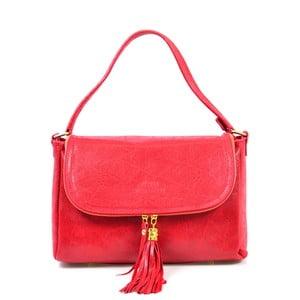 Kožená kabelka Eleonore, červená