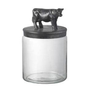 Sklenená dóza Cow