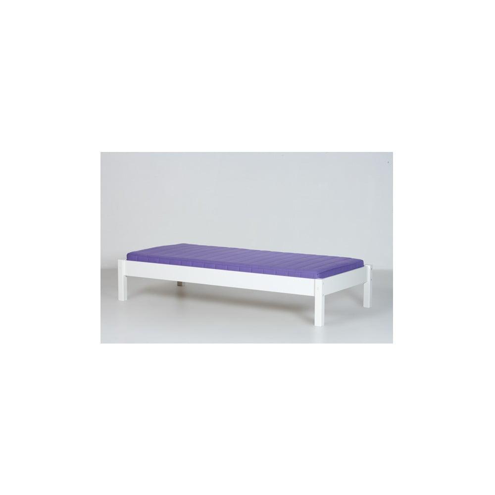 Biely rám lavice pod poschodovú posteľ Manis-h, 90 x 200 cm