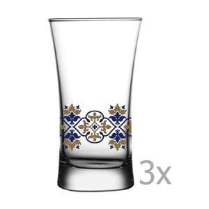 Sada 3 pohárov Paşabahçe Vintage, 135ml